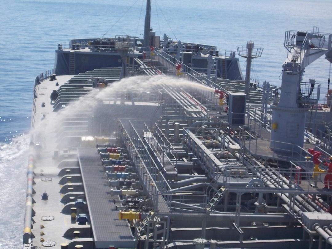 Fire Drill on board a tanker vessel.