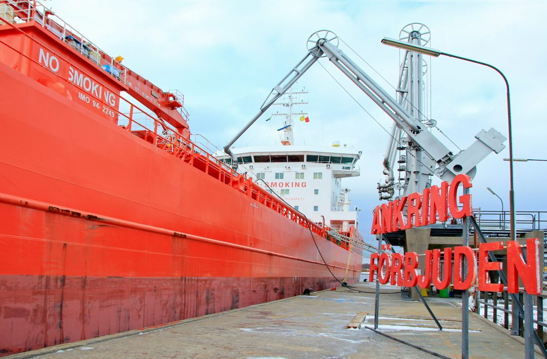 Product/ Chemical Tanker Loading in Sweden.