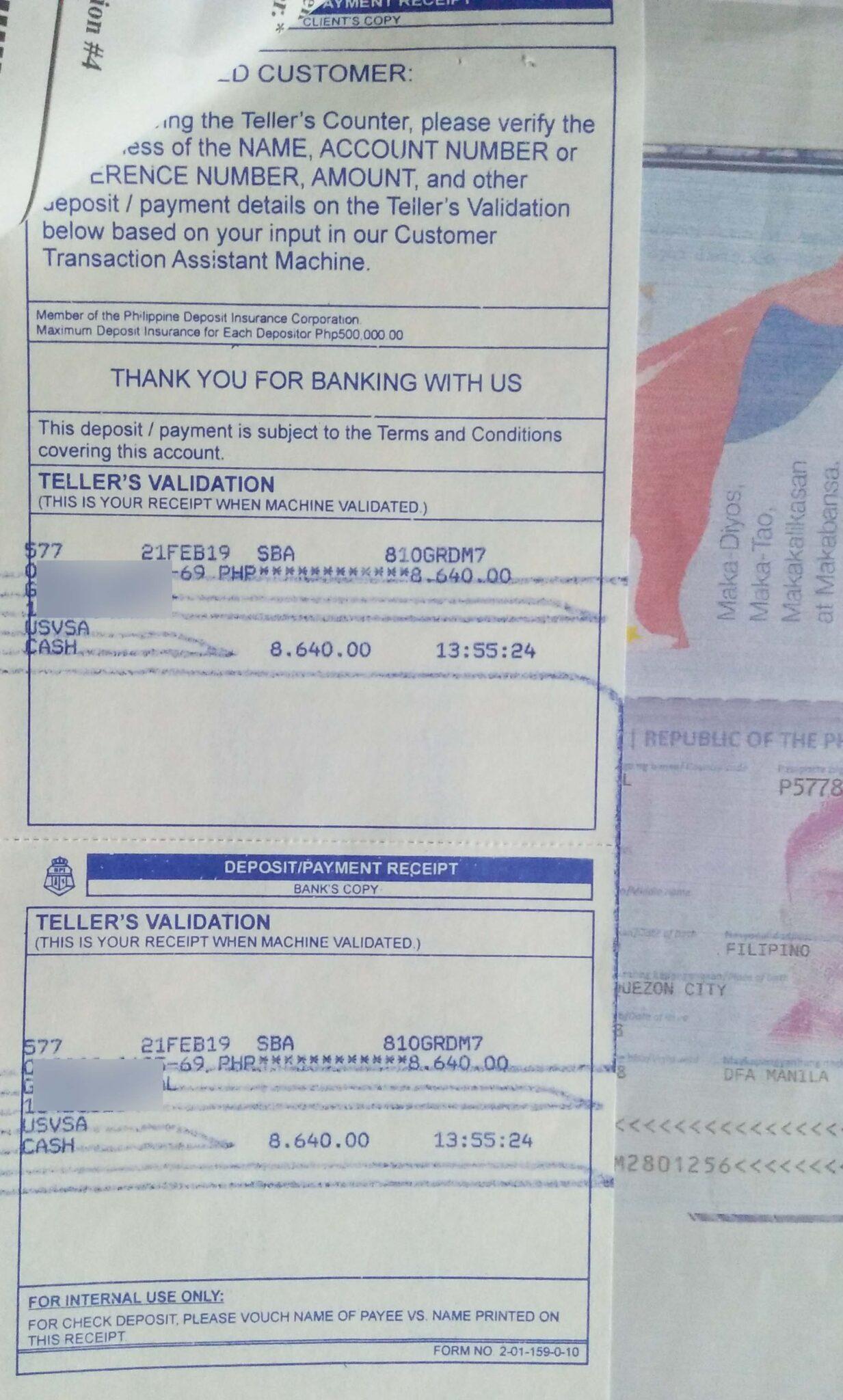 Deposit-Slip-BPI Visa Application Letter For Yourself on application letter for money, application letter for registration, bank of america visa, application letter for citizenship, application letter for hotel, application letter for starbucks,