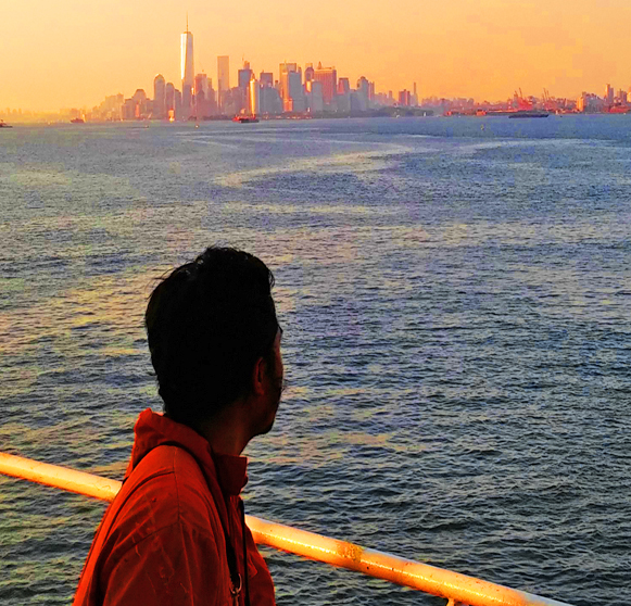 Seaman at the anchorage watching over New York.