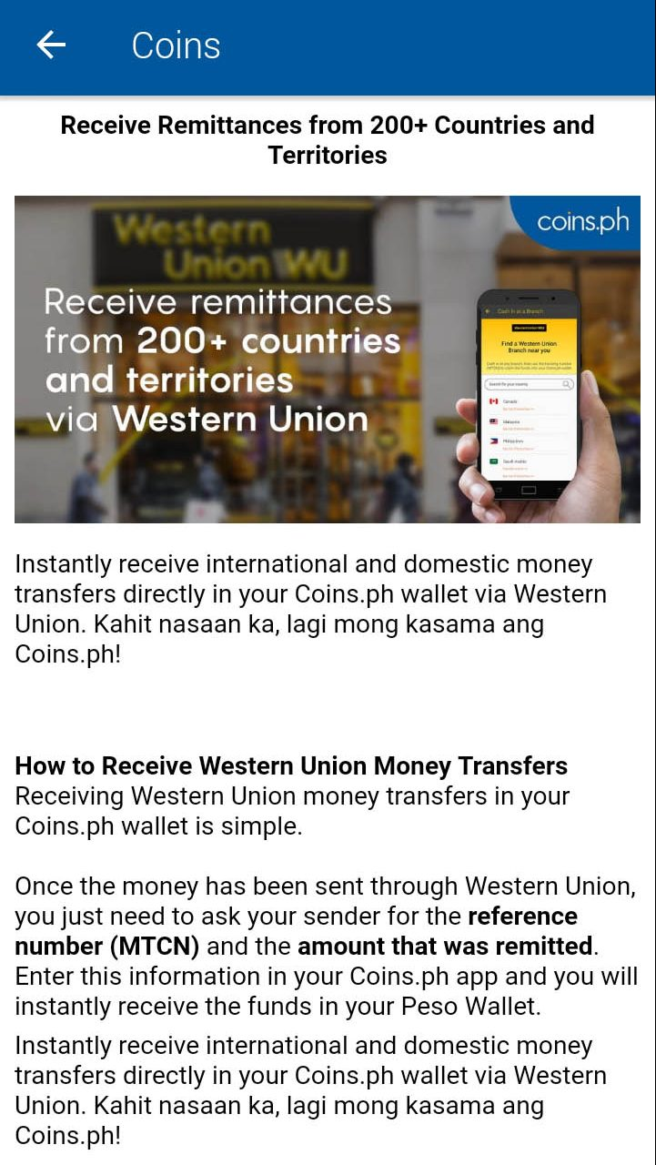 Sending and receiving money through coins.ph