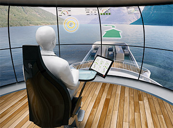 Smart ship concept with augmented reality.