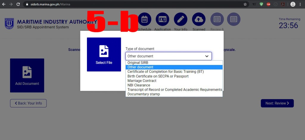 Uploading documents for processing your SID/ SRB application