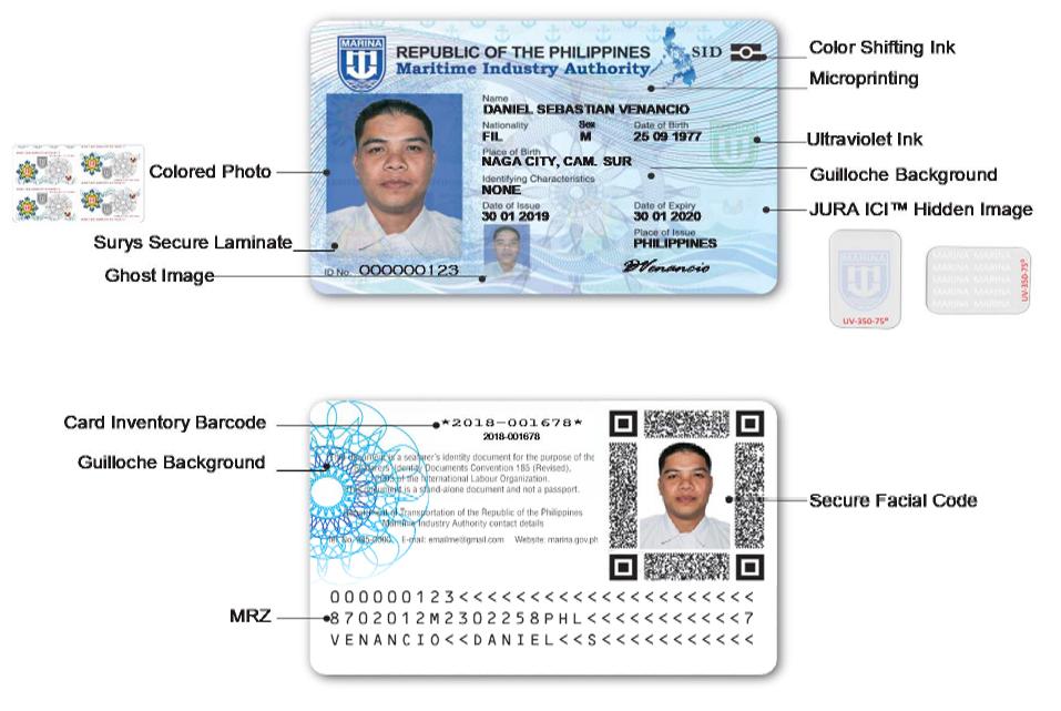 MARINA Seafarers' Identity Document Security Features