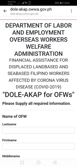 DOLE-AKAP Financial assistance for OFWs and Seafarers Displaced by COVID-19