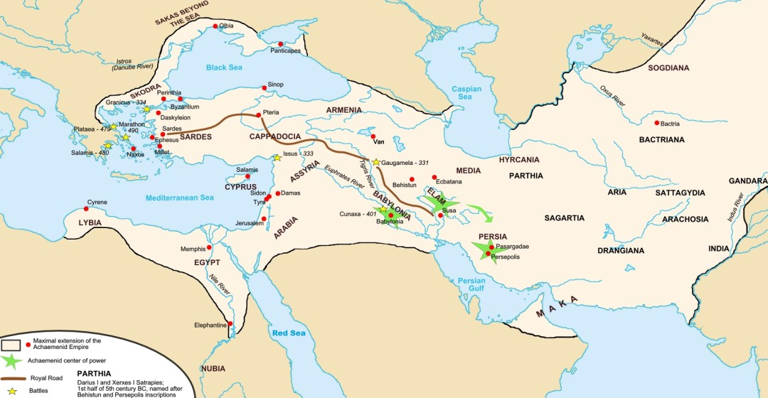 Map of the Achaemenid Empire.