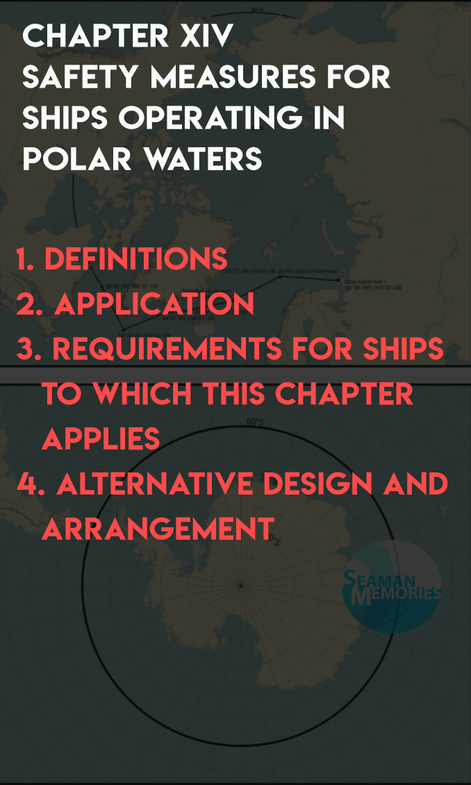SOLAS CHAPTER XIV - Safety Measures for Ships Operating in Polar Waters