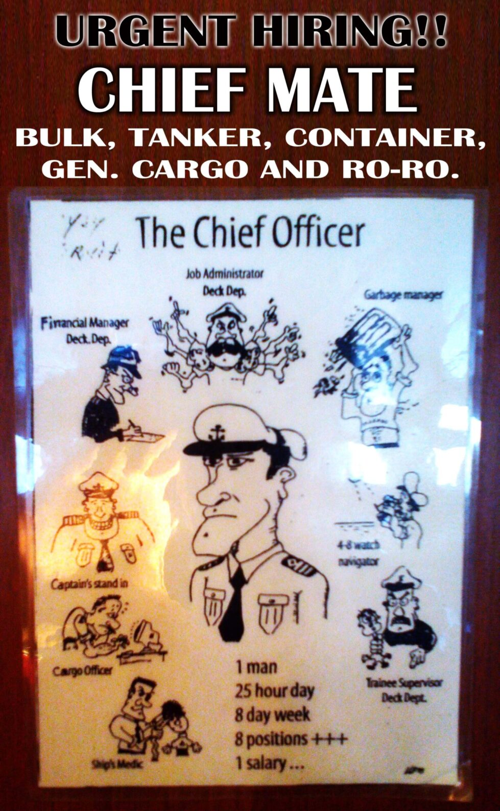Jobs of Chief Officer