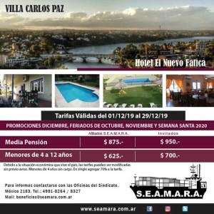 Villa Carlos Paz. Hotel El Nuevo Fatica