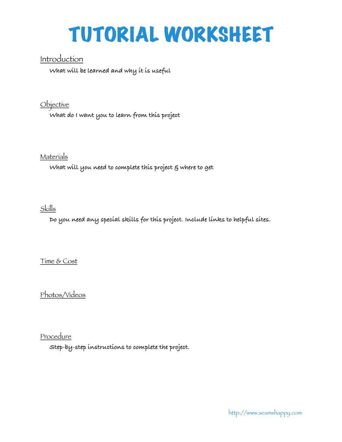 Writing A Tutorial Amp Free Printable