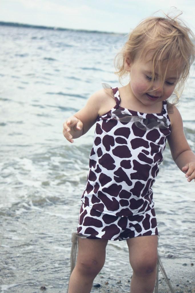 little girls giraffe swimsuit sewing pattern diy