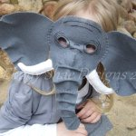Elephant Mask Halloween Sewing Patterns by Ebony Shae Designs