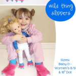 Wild Thing Slippers Halloween Sewing Pattern by Peek A Boo Patterns