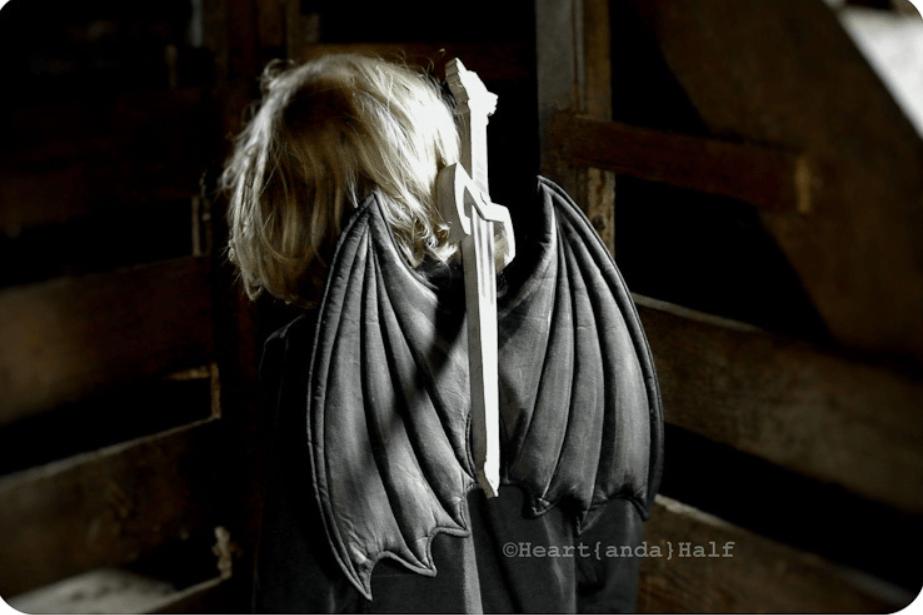 Wonderland Wings Halloween Sewing Pattern by Peek A Boo Patterns