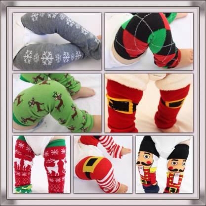 how to make Christmas leg warmers
