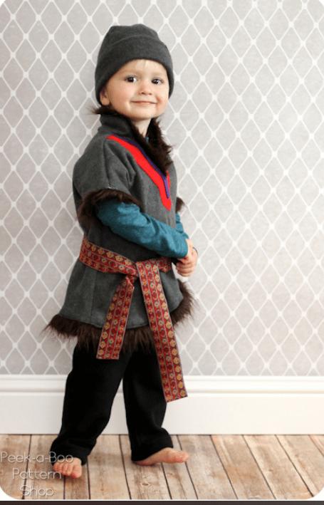 kristoff halloween sewing pattern by Peek A Boo Pattern shop