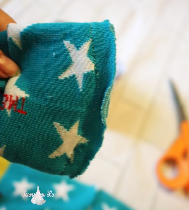 making baby leg warmers with a sewing machine