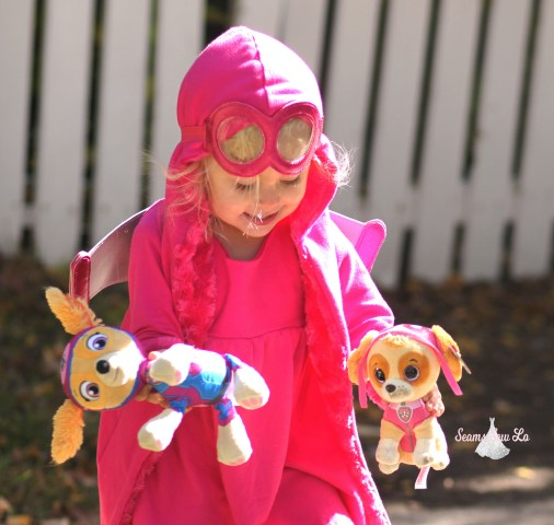 pink dog skye paw patrol halloween costume stuffed animals