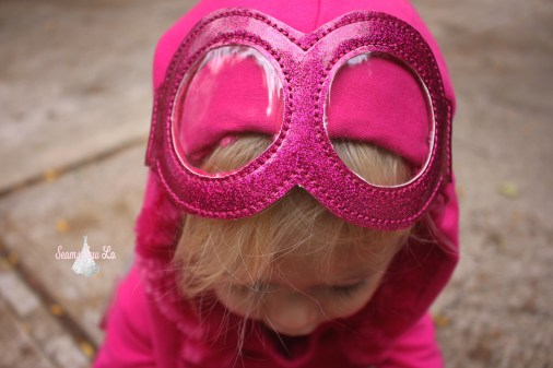pink sparkly goggles for skye paw patrol halloween costume diy
