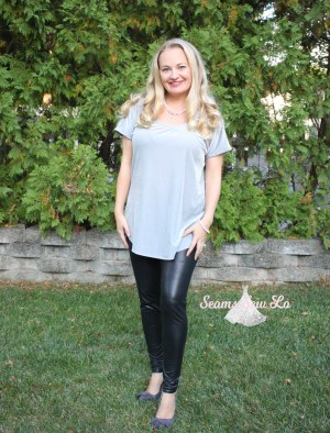 Women's Everday t-shirt sewing pattern by Ellie and Mac