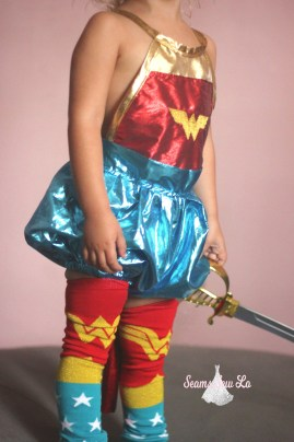 wonder costume for girls sewing pattern diy