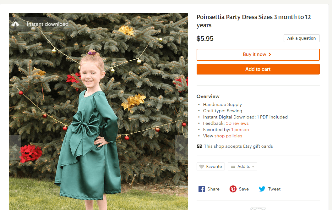 Poinsettia Party Dress Release