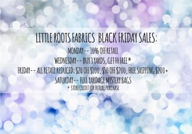 black friday sale little roots fabric