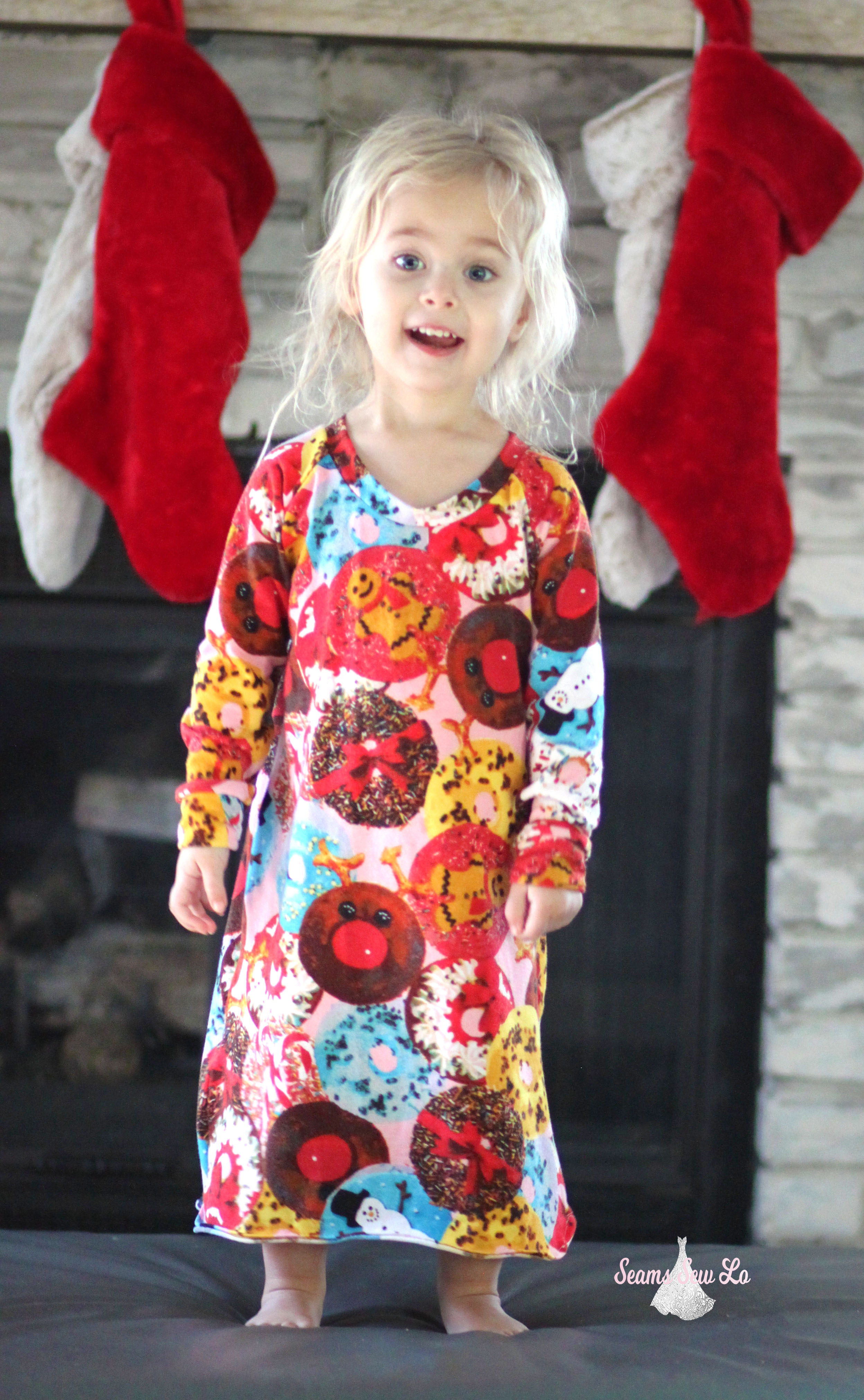 easy girls nightgown sewing pattern seamingly smitten 11