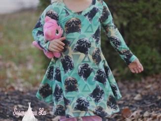 ellie and mac sweetie dress girls sewing pattern 5