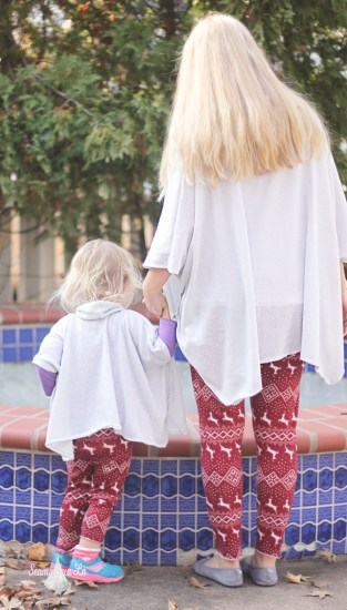 mommy and me catherine ponchos sewing pattern seamingly smitten silver sparkle 2