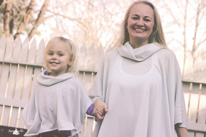 mommy and me matching poncho sewing pattern seamingly smitten
