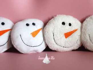snowball embroidery design toy diy