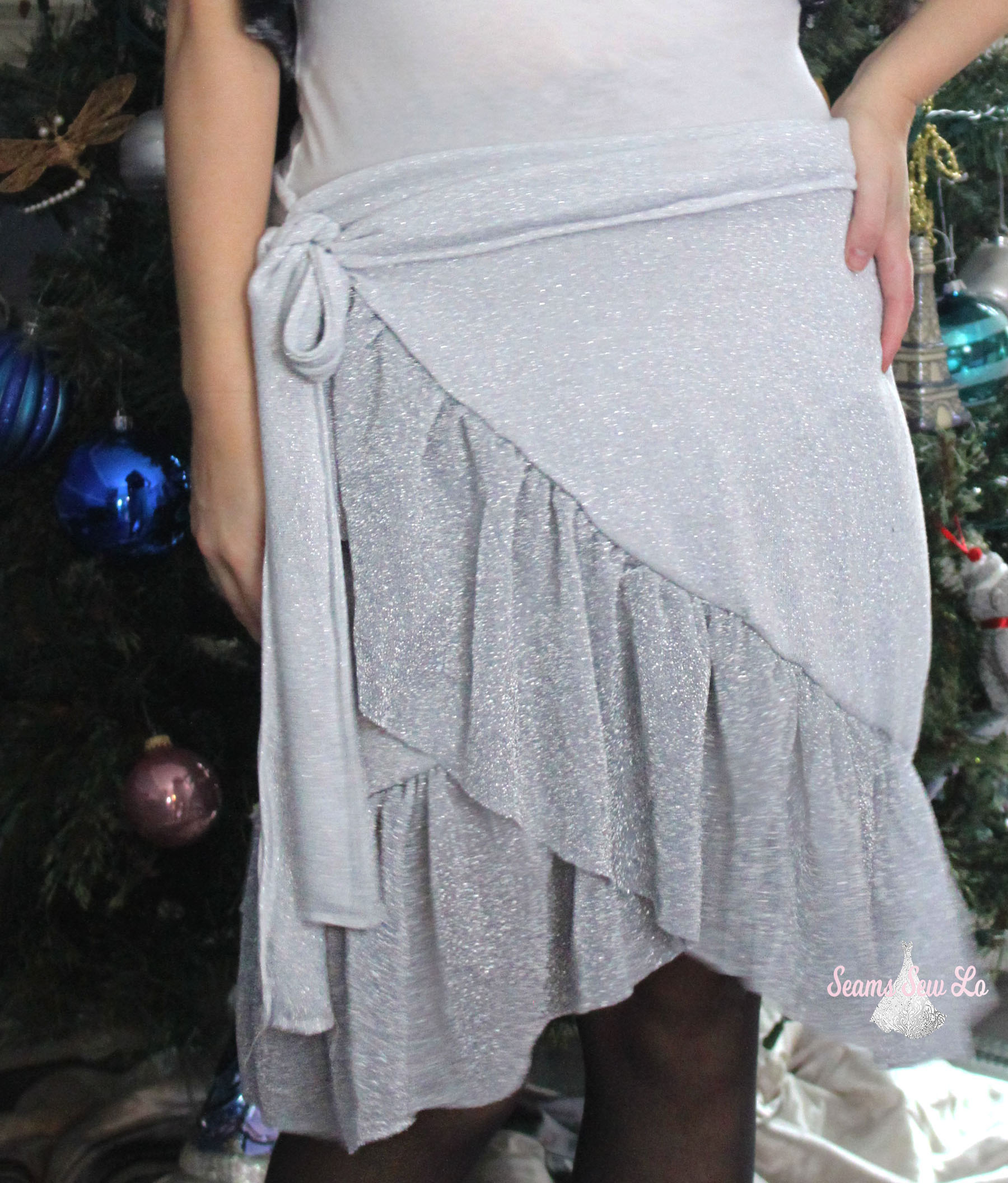 womens wrap skirt sewing pattern sparkly new years eve ellie and mac 2