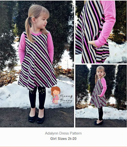adalynn girls dress sewing pattern release and sale mama can do it