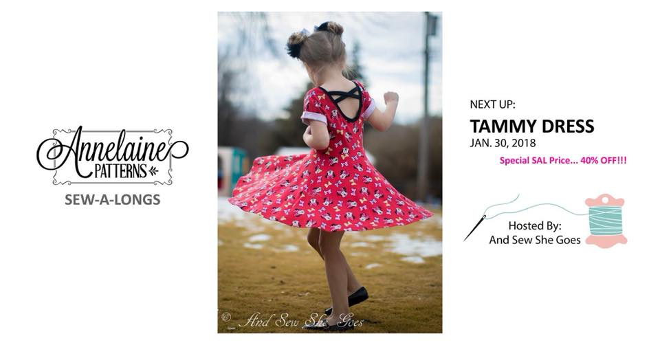 annelaine tammy dresss girls dress sewing pattern release sale and sew a long