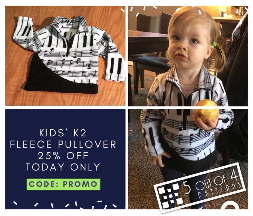 kids k2 fleece sewing pattern sale 5 out of 4 patterns
