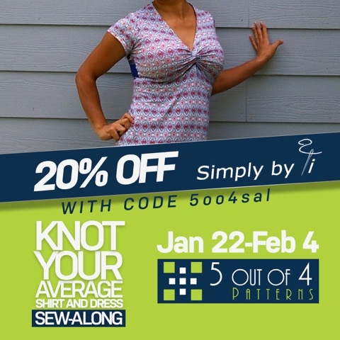 knot your average shirt fabric sale and sew along