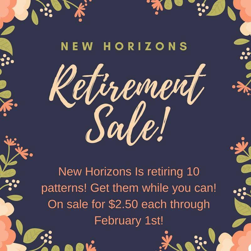new horizons sewing pattern retirement sale