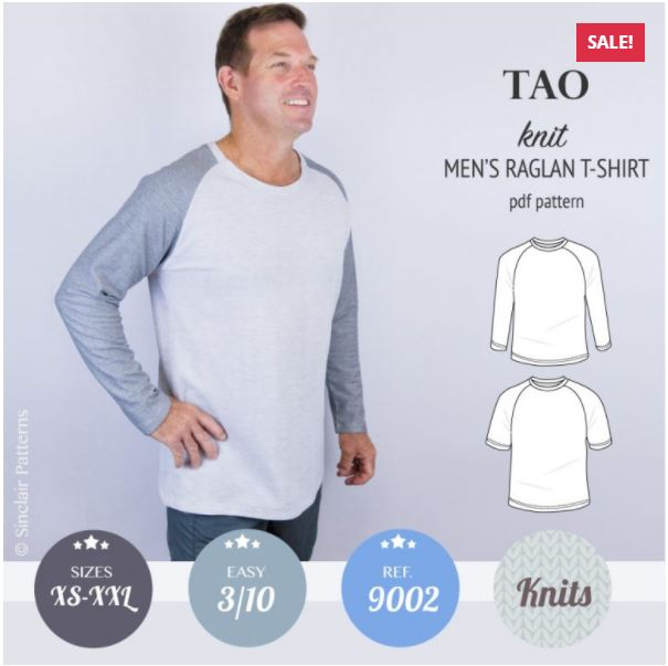 sinclair pattern tao mens raglan sewing pattern release