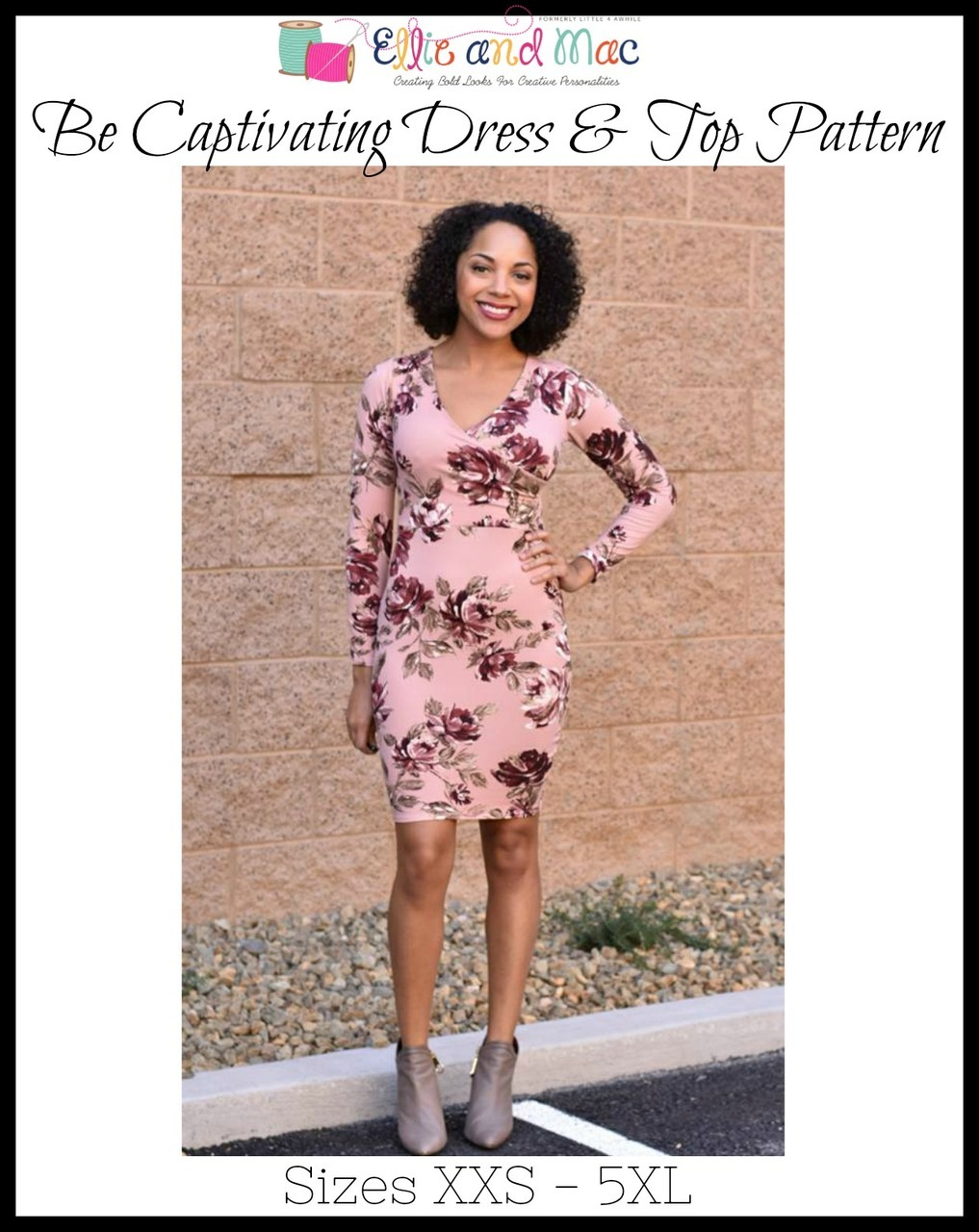 Womens Be Captivating Dress Sewing Pattern for Women