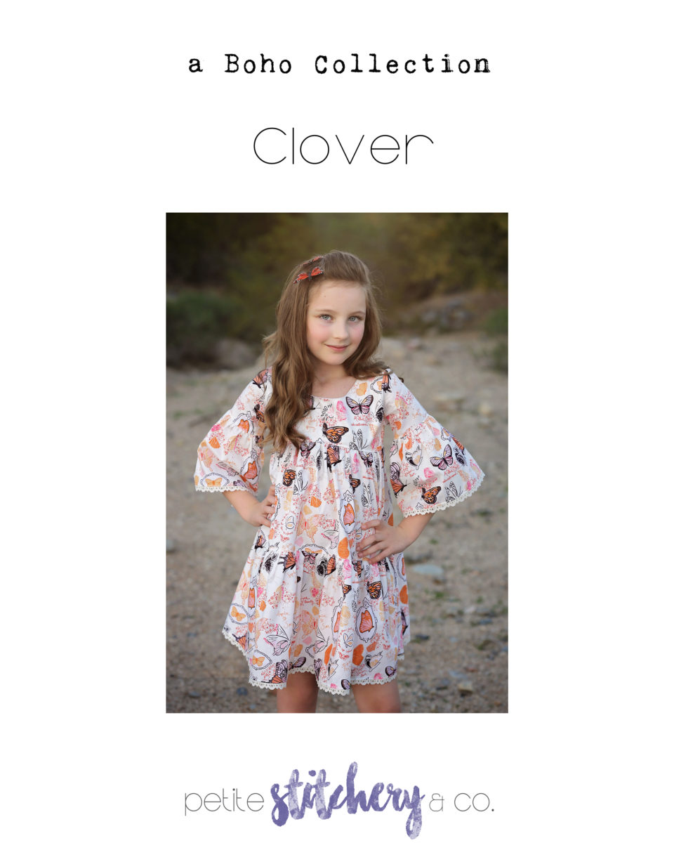petite stitchery clover girls dress sewing pattern sale