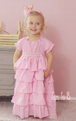 Girls Easter dress sewing pattern by Handmaidens Cottage Petticoat dress