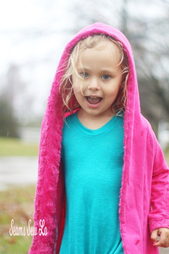 Girls Stay Cozy Jacket Sewing Pattern by Ellie and Mac