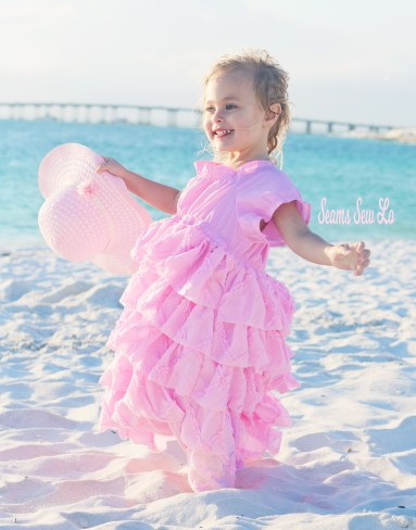 Girls Easter Dress Sewing Pattern, Ruffle Petticoat Dress by Handmaiden's Cottage