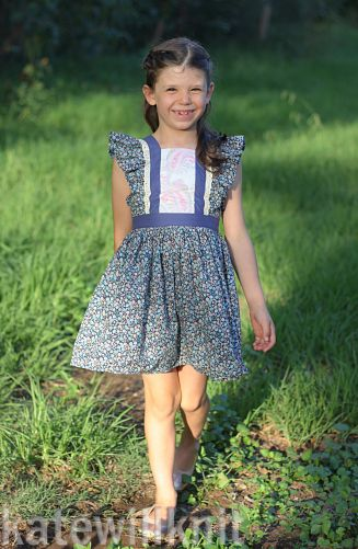 Girls Easter Dress Sewing Pattern, Alice Dress. Sewing Pattern by The Handmaiden's Cottage. Sewn by Needles To Say.