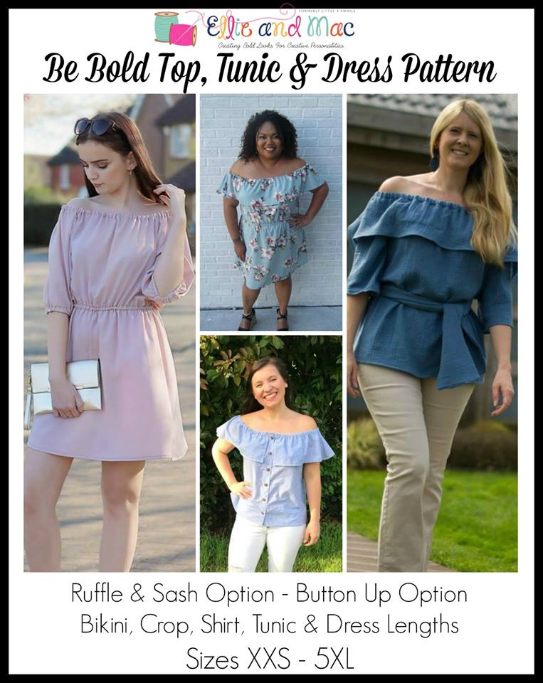 Be Bold Top, Tunic and Dress Sewing Pattern Release by Ellie and Mac