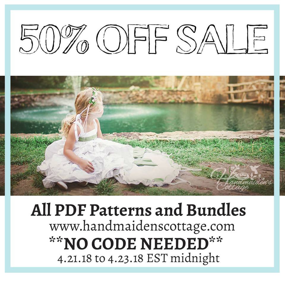Handmaidens Cottage Sewing Patterns 50% Off Sale