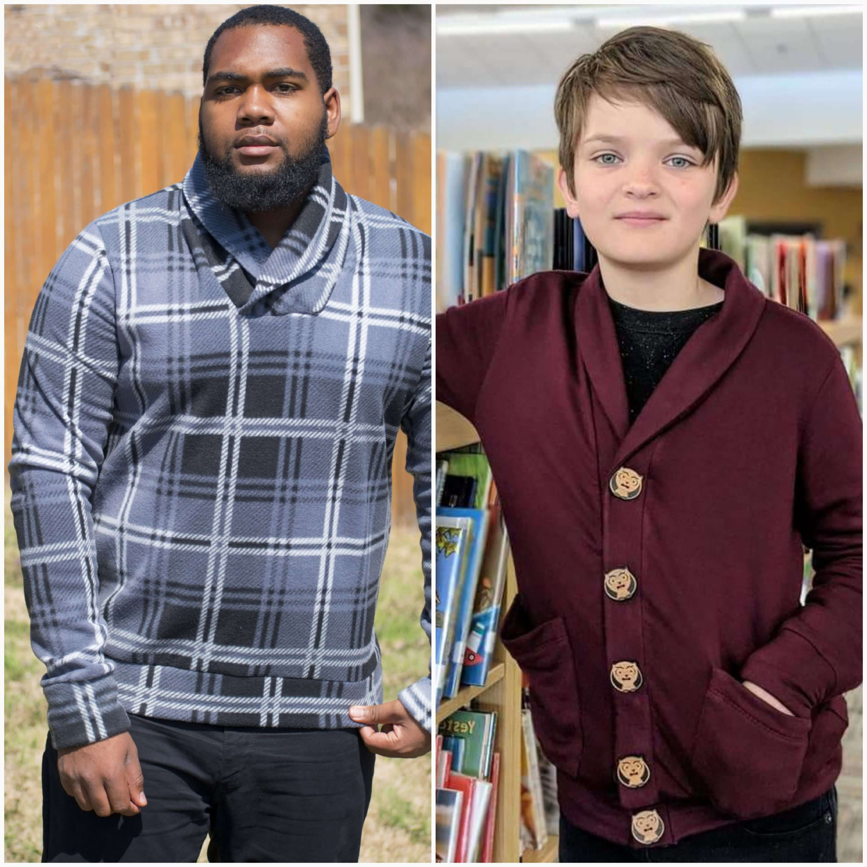Mens Yorkshire Cardigan Sewing Pattern Release by Toby K Patterns ...