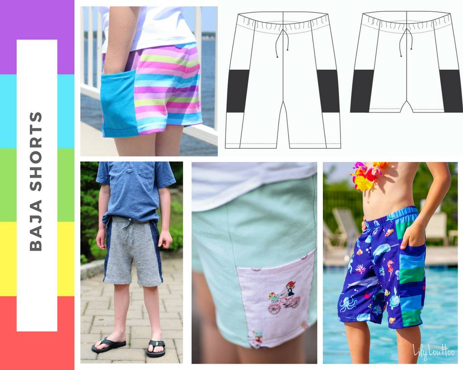 Baja Shorts Sewing Pattern Sale by Peekaboo Pattern Shop