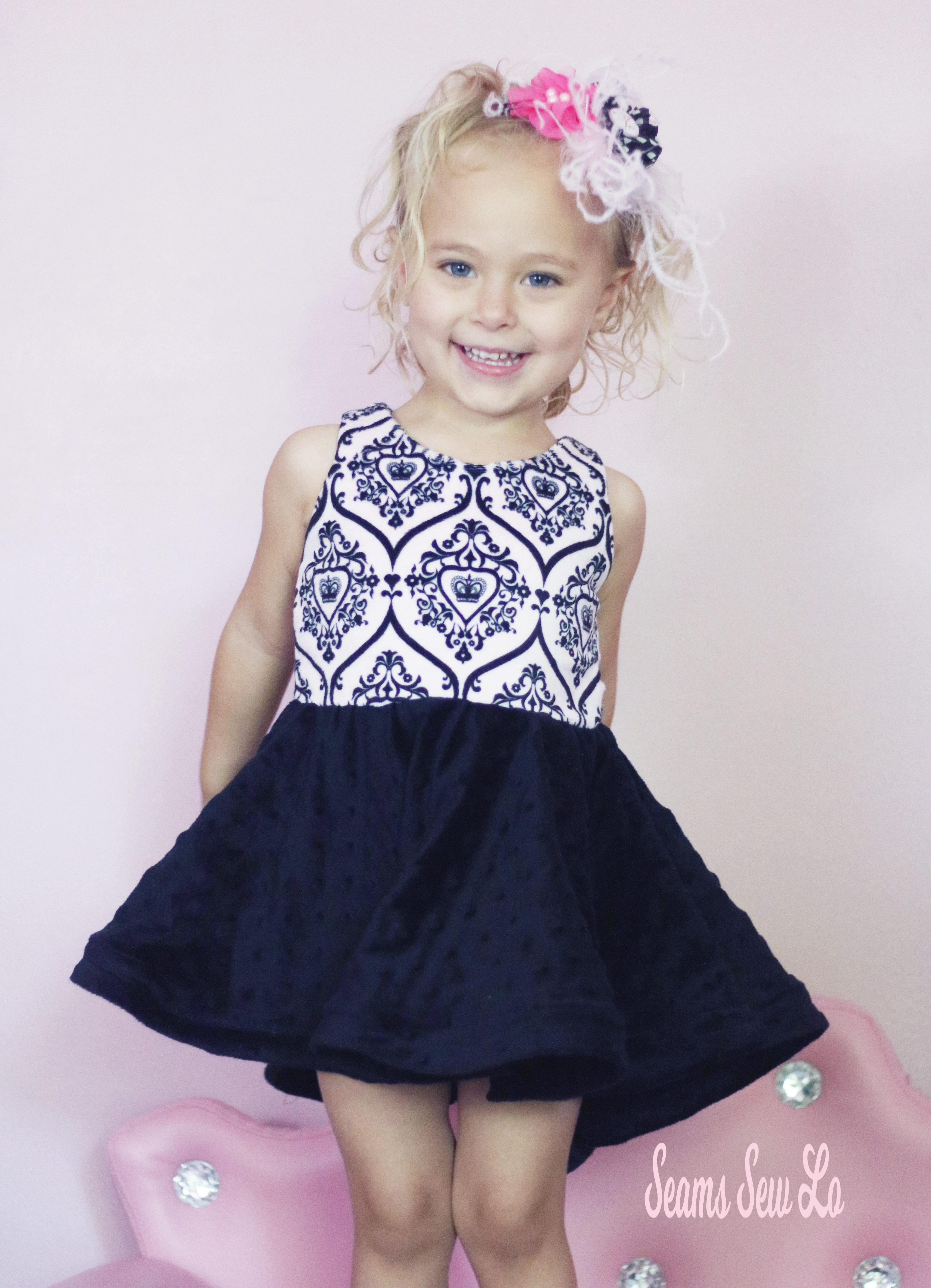 Be Amazing Girls Party Dress Sewing Pattern by Ellie and Mac $1 Sewing Pattern